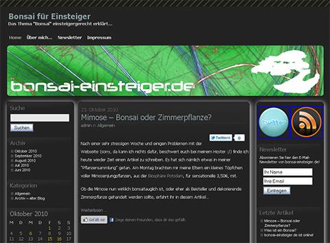 Bonsai Einsteiger Blog
