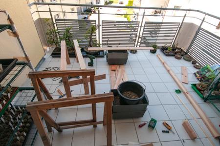 Heimwerken auf dem Balkon