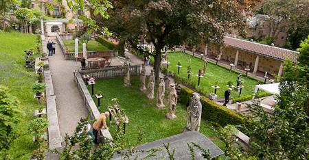 Blick auf das Lapidarium