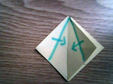 Origami ovale Schachtel 9