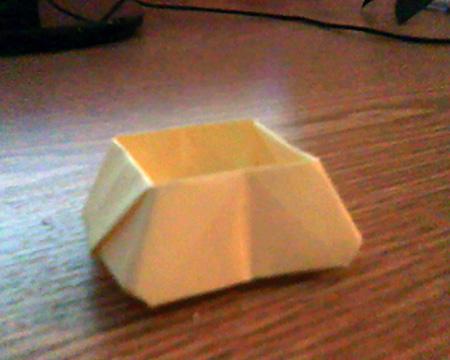 Origami ovale Schachtel 14