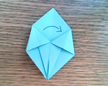 Origami Sternenschachtel 6