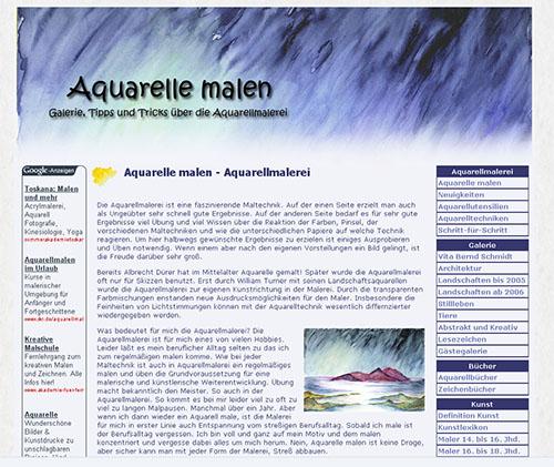 Aquarelle malen