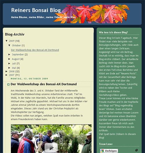 Reiners Bonsai Blog