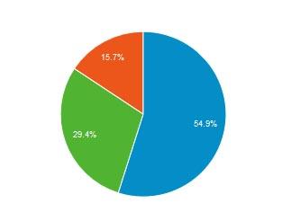 Besucher mit Desktop (blau) - Mobile (grün) - Tablet (rot) im Januar 2015