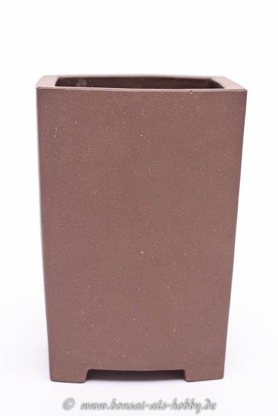 Bonsaischale Kaskade 6x5,5x8,5 unglasiert, rechteckig