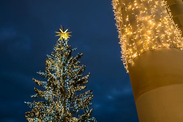Weihnachtsbaum auf dem Stuttgarter Schloßplatz