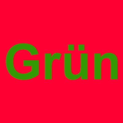 Kompelementärfarben rot und grün