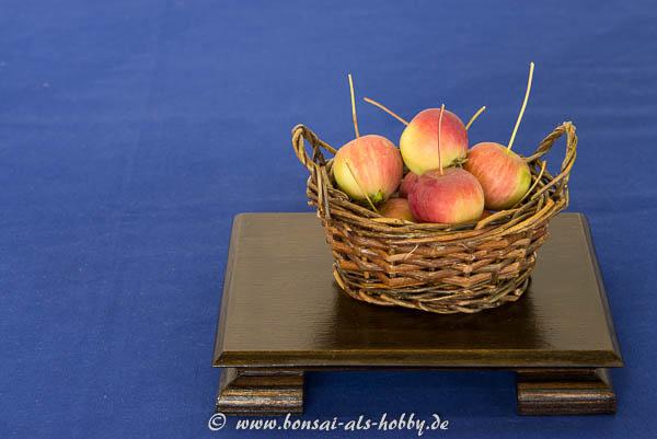 Ein Korb mit Äpfel als Beisteller!