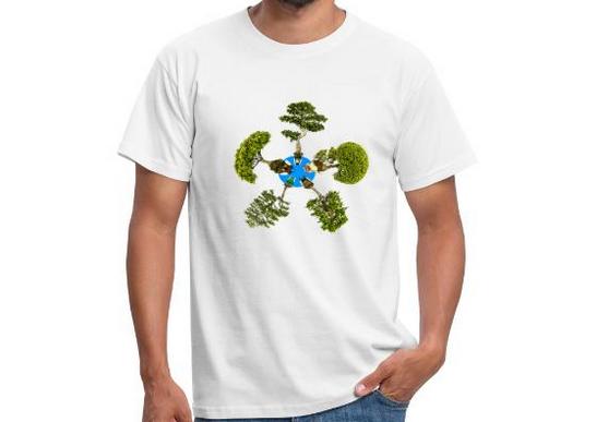 T-Shirt mit Bonsai Bäumen